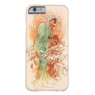 Winter - Alphonse Mucha Art Nouveau Barely There iPhone 6 Case