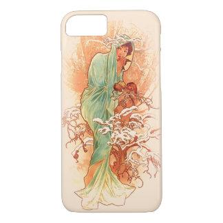 Winter - Alphonse Mucha Art Nouveau Case-Mate iPhone Case