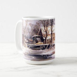 Winter Americana Horses Sleigh Millhouse Creek Mug