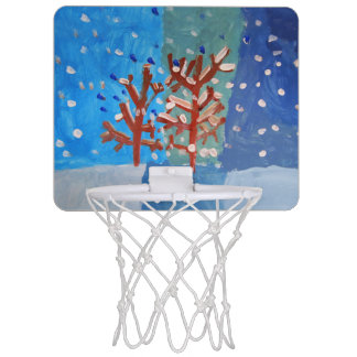 Winter - Art by Kids Mini Basketball Hoop