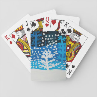 Winter art playing cards