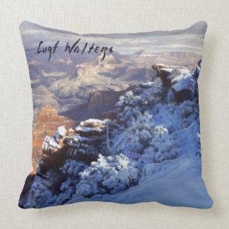 Winter at Mather Point Throw Pillow