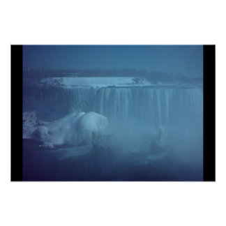 Winter at Niagara Falls, ON Poster