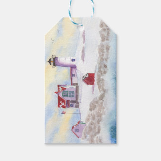 winter at Nubble LIghthouse in Maine Gift Tag