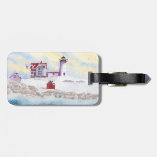Winter at Nubble LIghthouse in Maine Luggage Tag