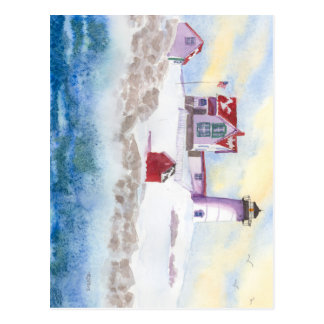 winter at Nubble LIghthouse in Maine Postcard
