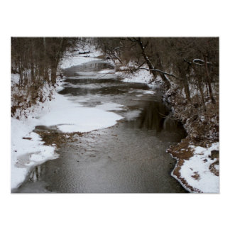 Winter at the Creek Poster