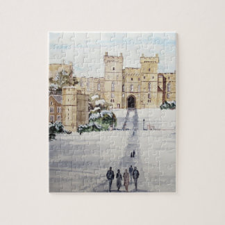 Winter at Windsor Castle by Farida Greenfield Jigsaw Puzzle