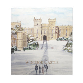Winter at Windsor Castle by Farida Greenfield Notepad
