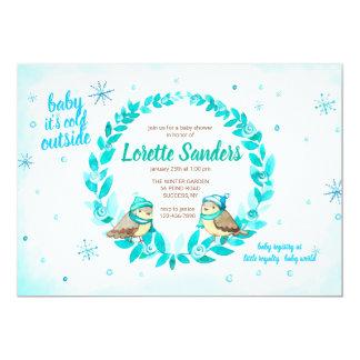 Winter Baby Boy Shower Invitation