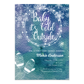 Winter Baby It's Cold Outside Baby Shower Invite