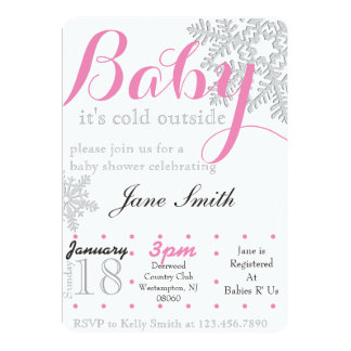 Winter Baby Shower Card