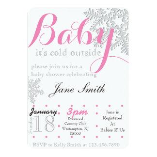 Winter Baby Shower Card
