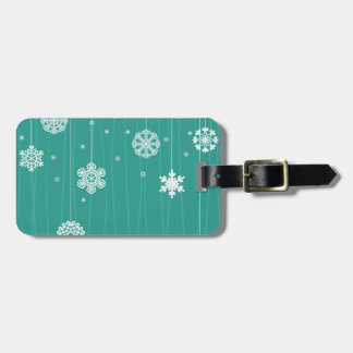 Winter background bag tag