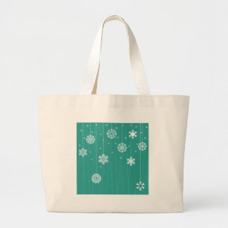 Winter background large tote bag