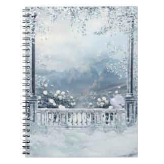 Winter Balcony View Notebook