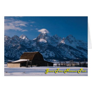 Winter Barn - Greetings Card