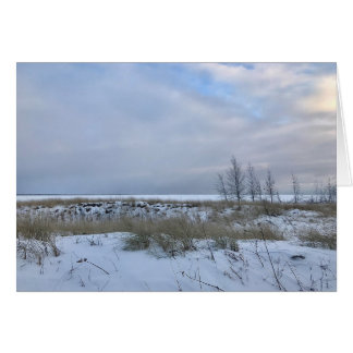 Winter Beach Landscape Photo Blank Greeting Card