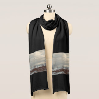 Winter Beach Long Jersey Scarf