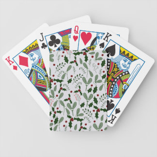 Winter berries bicycle playing cards