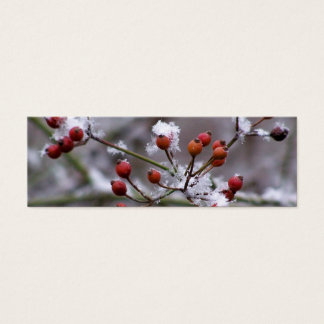 Winter Berries Bookmark Mini Business Card