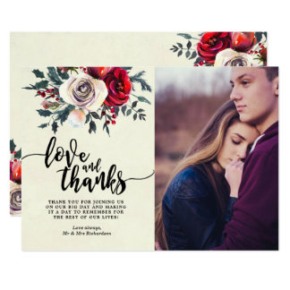 winter berries holly love and thanks photo card