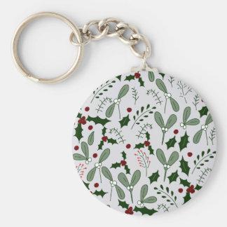 Winter berries keychain