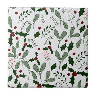 Winter berries tile
