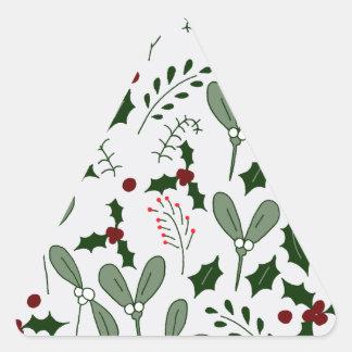 Winter berries triangle sticker