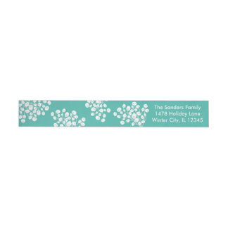 Winter Berries Wraparound Address Label