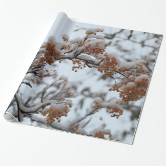 Winter Berries Wrapping Paper