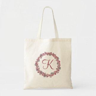 Winter Berry Monogram Tote Bag