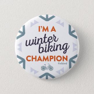 Winter Biking Champion - Large Pin