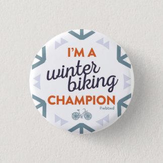 Winter Biking Champion - Small Pin