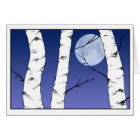 Winter Birches Solstice/Yule card