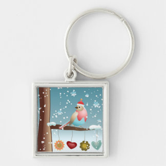 Winter Bird Keychain