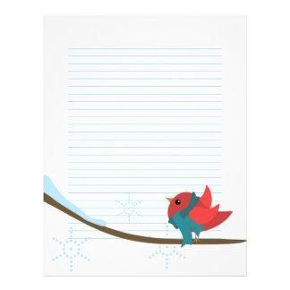 Winter Bird Letterhead Design