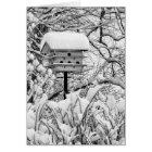 Winter Birdhouse Card