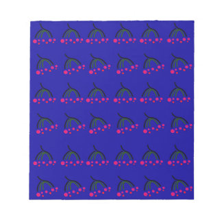 Winter Birds  Food blue Notepad