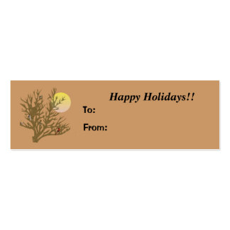 Winter Birds Happy Holidays Gift Tag Mini Business Card