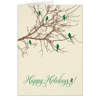 Winter Birds Holiday Card (evergreen)