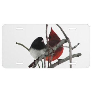 Winter Birds License Plate