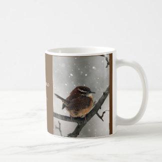 Winter Birds Mug:  Carolina Wren Coffee Mug