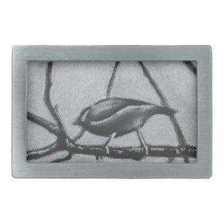 Winter Birds Rectangular Belt Buckle