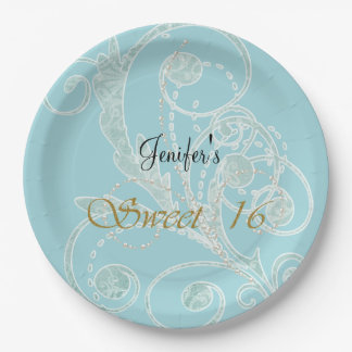 Winter birthday plate