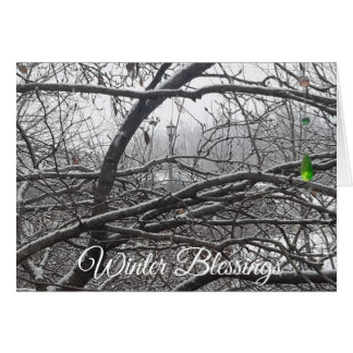 Winter Blessing Holiday Seasons Wishes Card