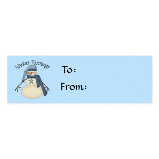 Winter Blessings Gift Tag Mini Business Card