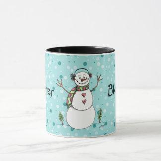 Winter Blessings Snowman Mug
