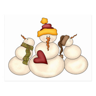 Winter Blessings · Snowmen Postcard