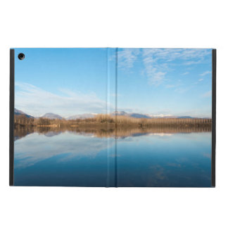 Winter blue lake cover for iPad air